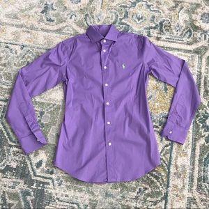 Lavender Polo Dress Shirt